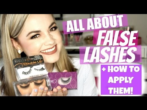 HOW TO: False Lashes - Eye Shapes, Styles + Application  |  Faces by Cait B