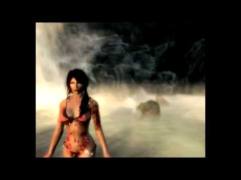 My character in The Elder Scrolls V: Skyrim (with mods)