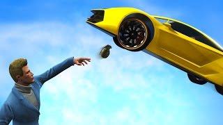 GRENADE VS FLYING CARS! | GTA 5 Funny Moments