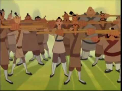 MULAN  - CON VALOR - CANCION COMPLETA  (HD)