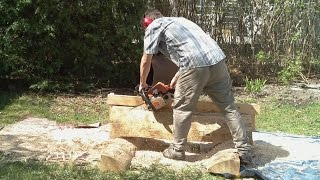 Chainsaw milling experiment