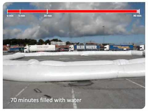 The Mobile Flood Defence Barrier - replacement of sandbags during flooding