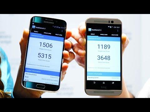 ▶ Samsung Galaxy S6 Edge vs. HTC One M9 - Benchmark (Deutsch)