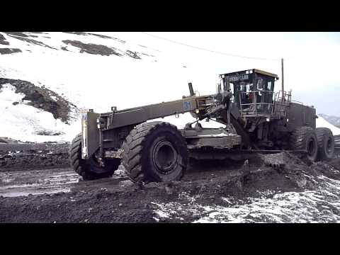 Caterpillar 24M Grader Haul Road Maintenance Pt 3?