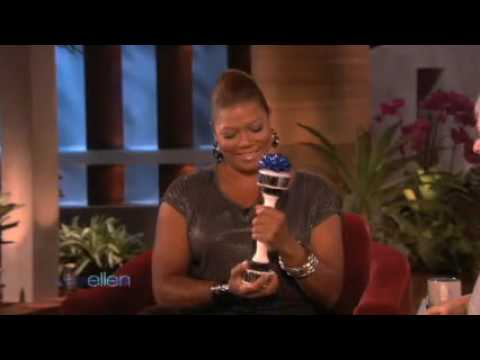 Ellen gives Queen Latifah a Shake Weight