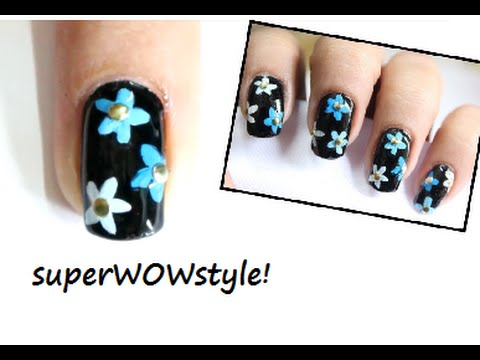 Retro Flowers ✿ Symmetrical Flower Drawing Technique! ✿ (How to do easy nail art designs)
