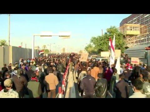 Thousands demonstrate against Saudi in Baghdad