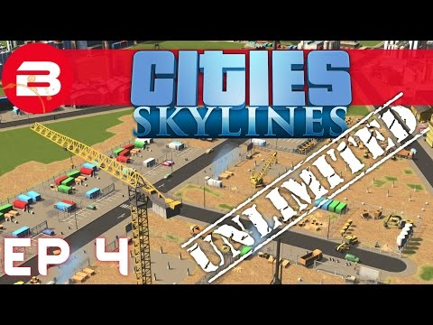 Construction Site - E4 - Cities Skylines Unlimited (Creative City Builder)