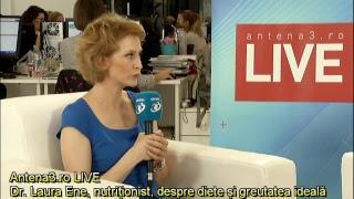 download musica Antena3ro LIVE cu Maria Coman - Dr Laura Ene nutriționist despre diete și greutatea ideală
