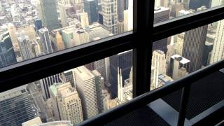 Chicago from 103th floor at Willlis Tower.