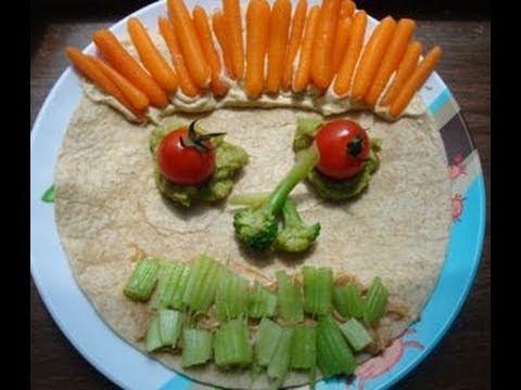 How to get kids to eat vegetables? Mr. Tasty Face - Vegan After School Snack