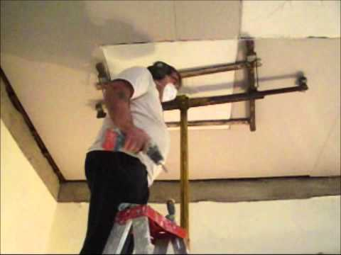 Plastering How to Install an Ornate Plaster Ceiling Part 13  www.hprs.net