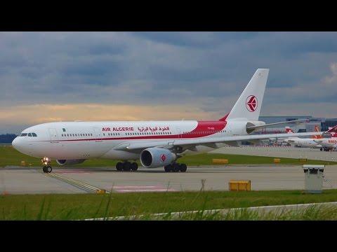 [FullHD] *RARE* Air Algérie Airbus A330-200 landing & takeoff at Geneva/GVA/LSGG