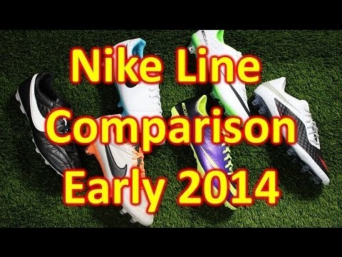 Nike Line Comparison Early 2014 - Mercurial Vapor. Hypervenom. CTR360 Maestri 3. Legend 5. Premier