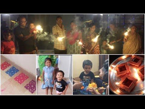 Diwali vlog || family Diwali vlog ||My Diwali 2018 Vlog - Celebrations, Rangoli, Food | Sireesha
