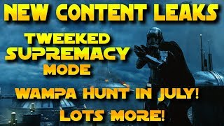 Battlefront 2 - NEW FUTURE CONTENT LEAKS (NEW SUPREMACY Game mode, Wampa Hunt, and a lot more!)