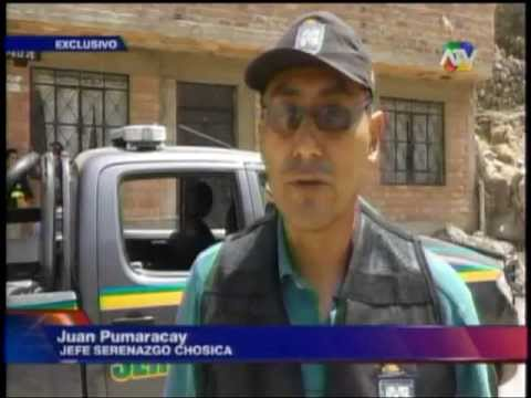 SERENAZGO DE CHOSICA Y POLICIA CAPTURAN A PELIGROSO DELINCUENTE -ATV NOTICIAS-12-04-13
