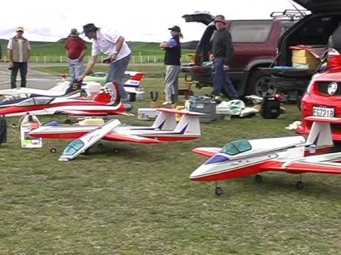 RC model planes, jet powered at Tokoroa New Zealand