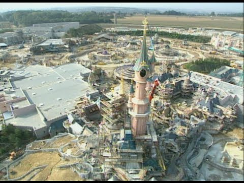 Construction Of Euro Disney 1992 Youtube