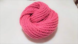 Bufanda de lana tejida con dos agujas ღ Handmade Diy