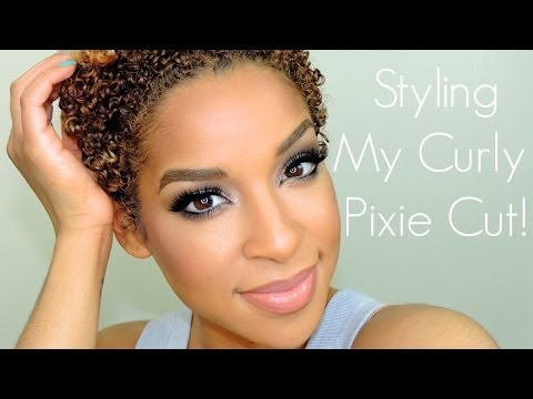 Styling My Naturally Curly Hair |  TWA Series Pt. 1