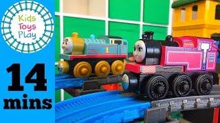 Thomas and Friends Wooden Railway Train Races   Thomas Train VS Ladies of Sodor   Super Station