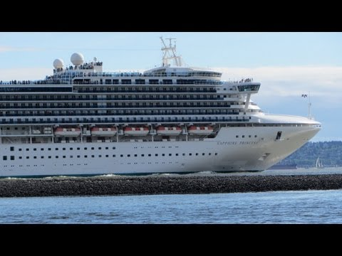 Sapphire Princess - Cruise Ship in Vancouver BC May 18, 2013
