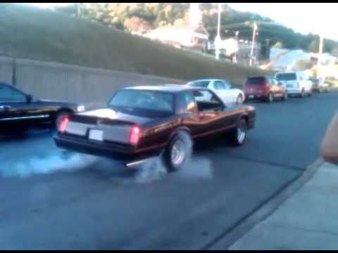 1985 monte carlo ss burnout youtube