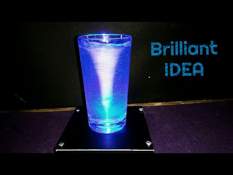 How to Make a Tornado in a Glass or Bottle - Home Decor​ Life Hack