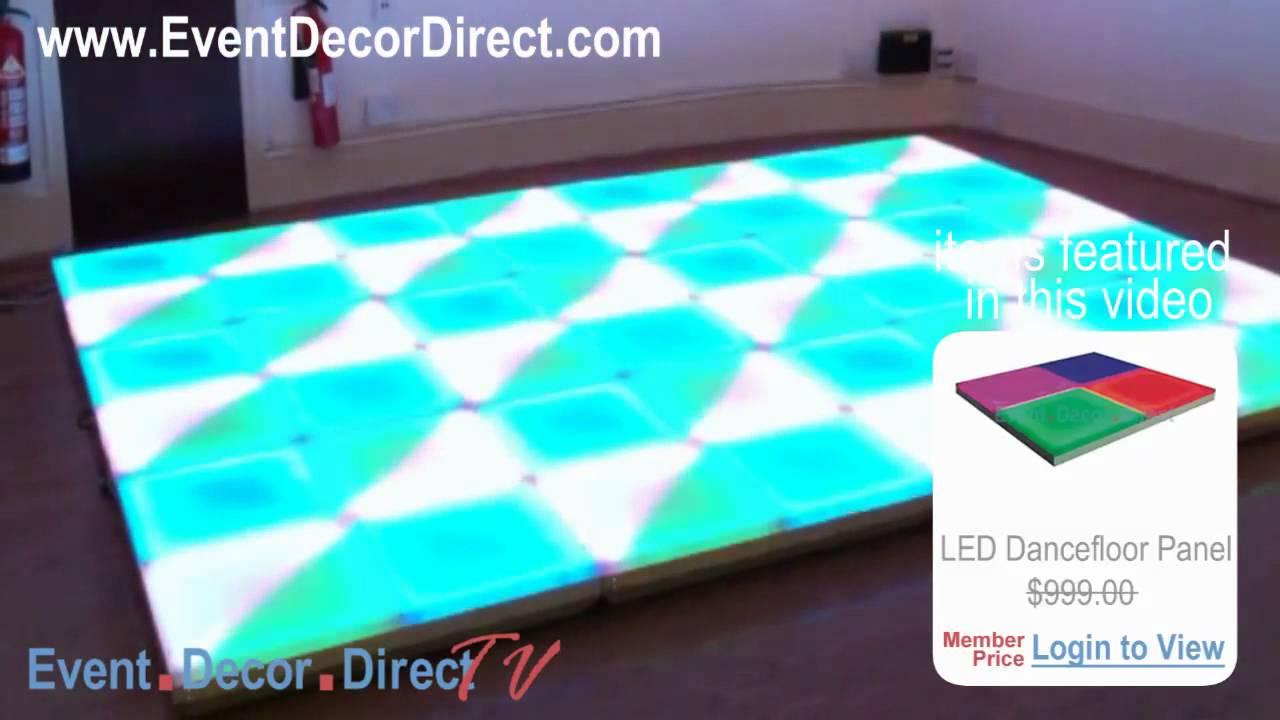 Event decor direct tv eddylight led dancefloor panels for Decor direct
