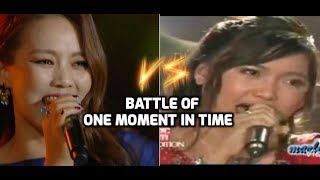 So Hyang Vs Charice - Battle Of One Moment In Time