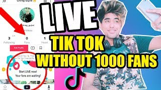 HOW TO GO LIVE ON TIK TOK WITHOUT 1000 Fans ! Tik Tok Par Live Kaise jaye ! Go Live Tik Tok Problem