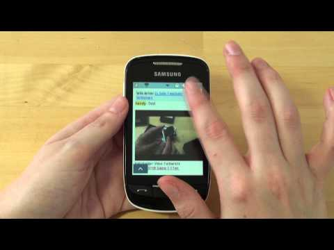Samsung S3850 Corby Ii Test Internet video