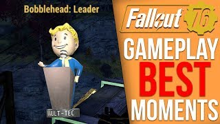 Fallout 76 Gameplay Highlights - Finding a Bobblehead, Taking down a Scorchbeast, PvP
