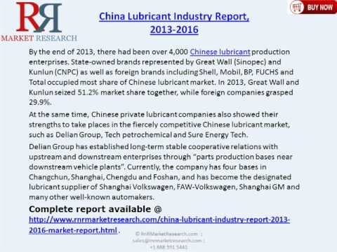 China Lubricant Industry 2016