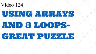Learn Excel Video 124 VBA-Export data - Arrays loops-Must Watch
