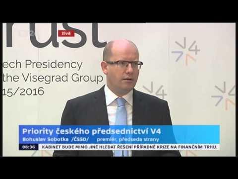B. Sobotka: V4 patří k nejaktivnějším regionálním uskupením v rámci EU