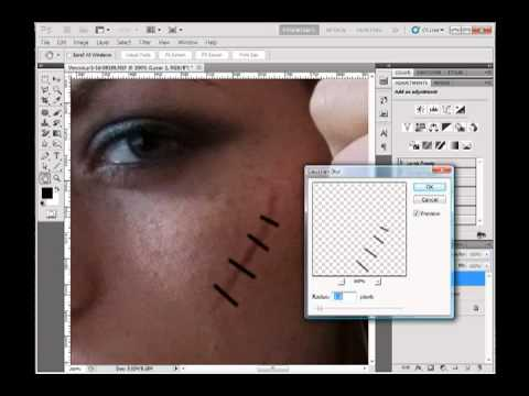 A Photoshop Tutorial: Fast Scars