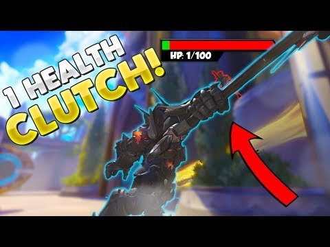 1 Health Genji Captures Point!? - Overwatch Competitive & Custom Game Funny Moments