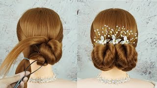 Beautiful Hairstyle With Hair Tool - Amazing Hair Hacks For Girls | Bun Hairstyle For Bridal