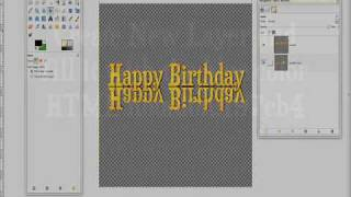 How to make Glossy Wordart with Reflection