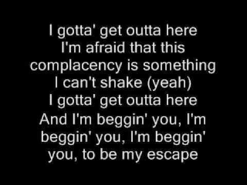 Be My Escape - Relient K  (lyrics) FULL VERSION!!!
