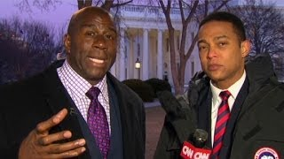 Magic Johnson: (Obama) plan won't come up  short