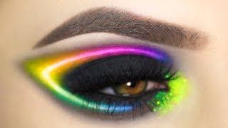 Rainbow Neon | Eye Make Up Tutorial