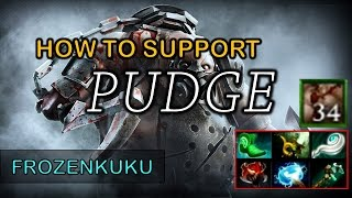 DOTA 2 - How to Play Support PUDGE!!! (Plays and Fails)