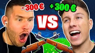 300€ SNIPER 1v1 gegen STANDARTSKILL in FORTNITE!