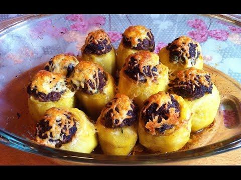 Запеченный Фаршированный Картофель / Stuffed Potatoes / Простой Рецепт (Очень Вкусно)