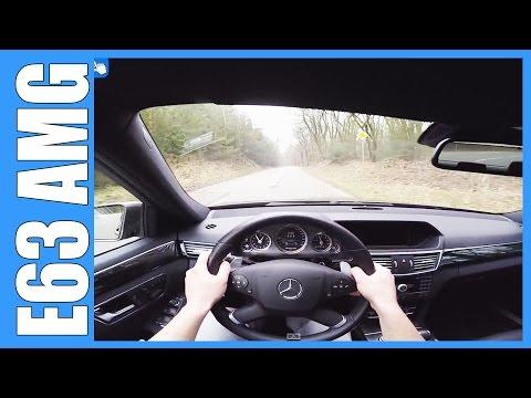 Mercedes Benz E63 AMG W212 GREAT! OnBoard / POV w/ LAUNCH CONTROL