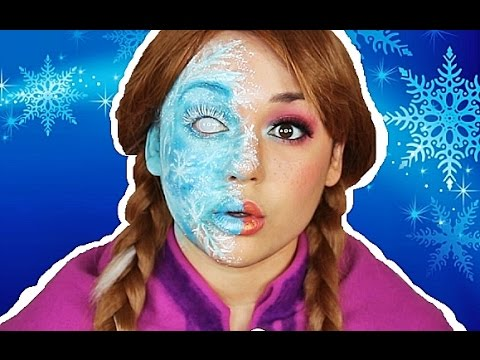 ANNA HALF FROZEN MAKEUP TUTORIAL!
