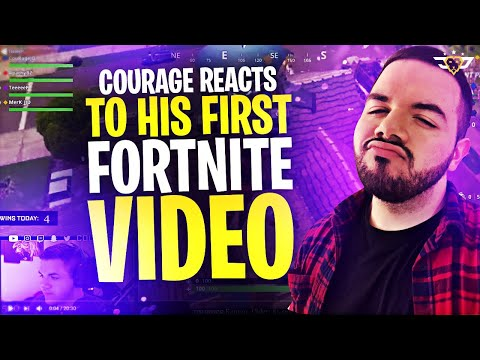 COURAGE REACTS TO HIS FIRST FORTNITE VIDEO! (Fortnite: Battle Royale)